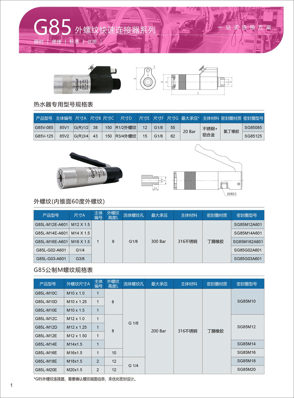 G85-选型表-1
