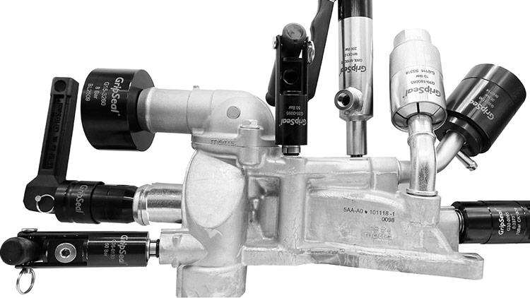 发动机冷却水道气密性测试快速密封接头应用案例